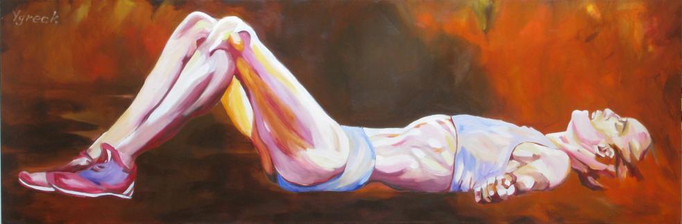 Long Lying in Orange 50*150 cm