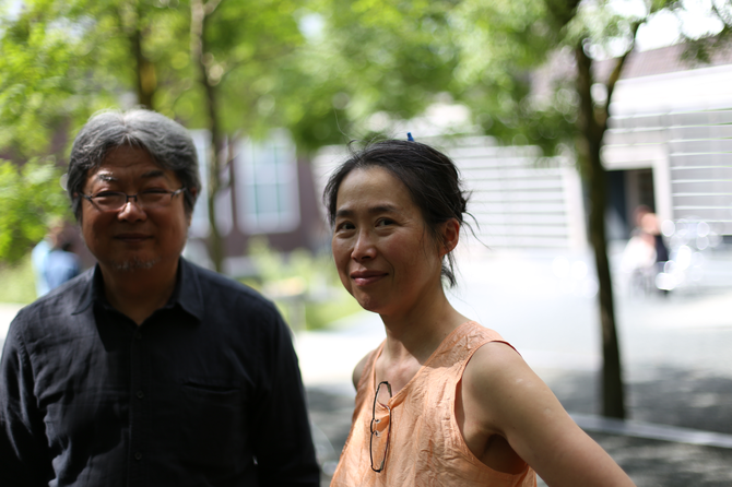 Mr.Wang Wei 王嵬, director/curator of the Dalian大連 Art Museum, and Ygreck Shyu